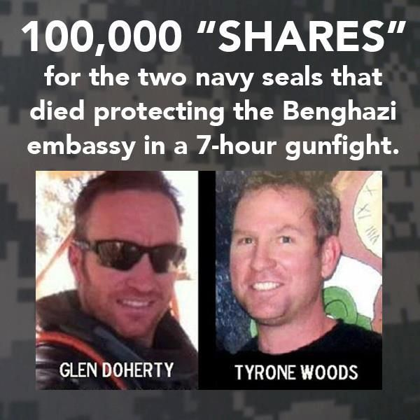 Rwe are proud of you guys and remember you and your family with prayers. Benghazi - The Media Wont.