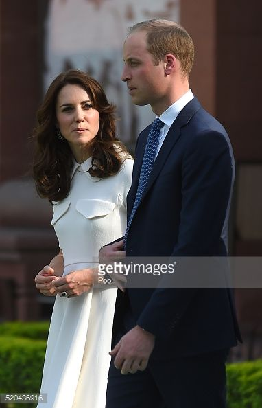 Catherine, Duchess of Cambridge and Prince William, Duke of Cambridge visit the Gandhi memorial at Gandhi Smriti, a museum located in Old Birla House, where Mahatma Gandhi, India's founding father,...