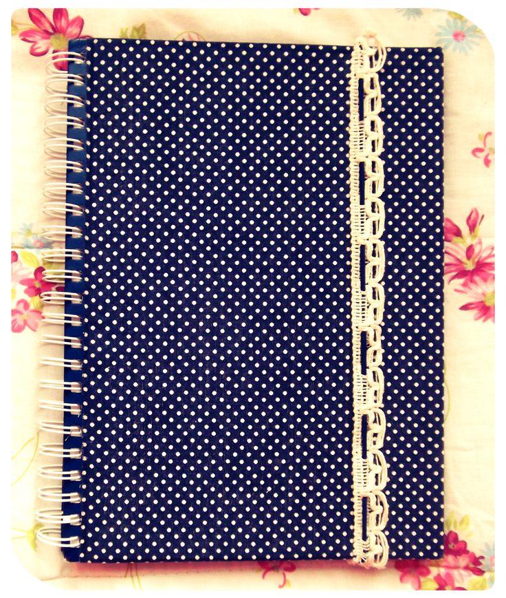 capa para caderno em tecido