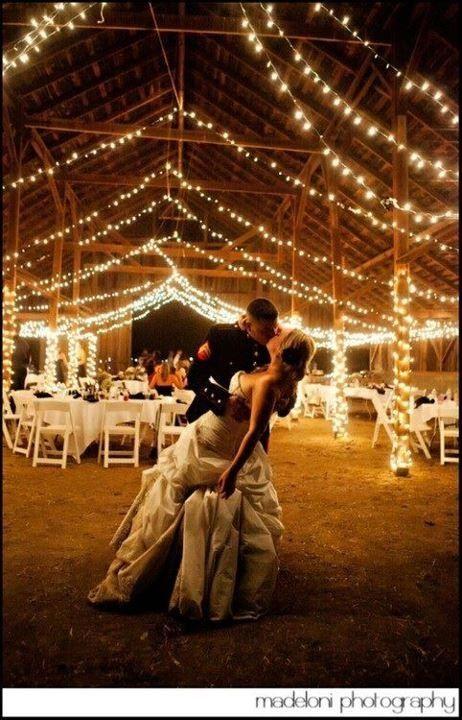 Future wedding idea :) love the lights easy to do