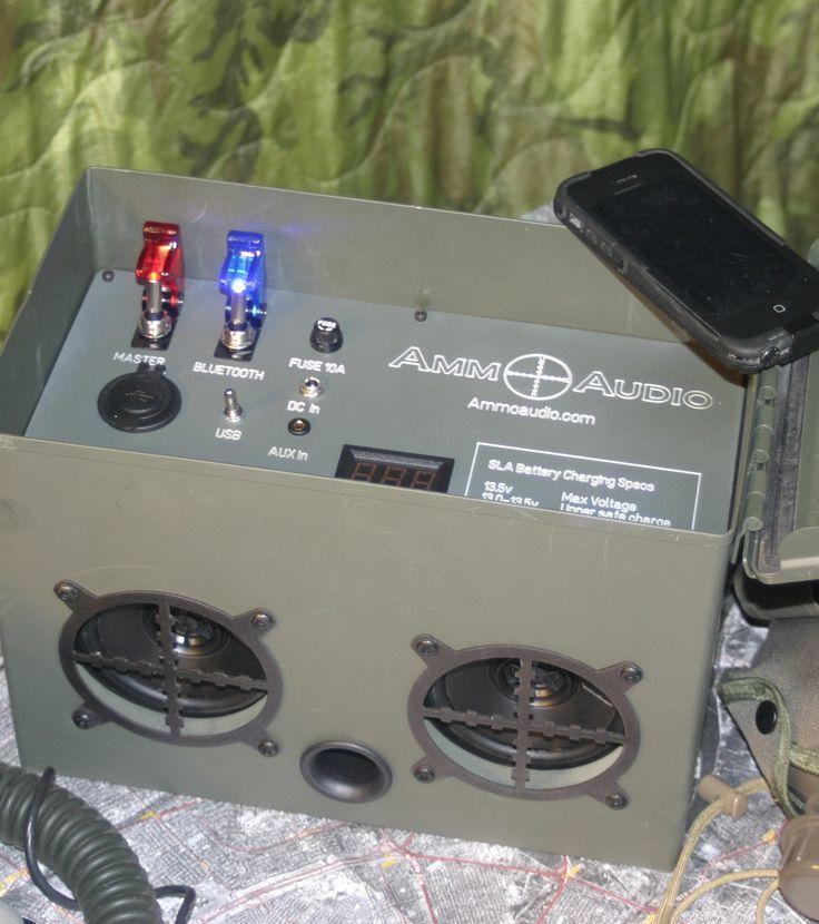 Ammo Audio -- Veteran Made, Bluetooth Portable Speaker