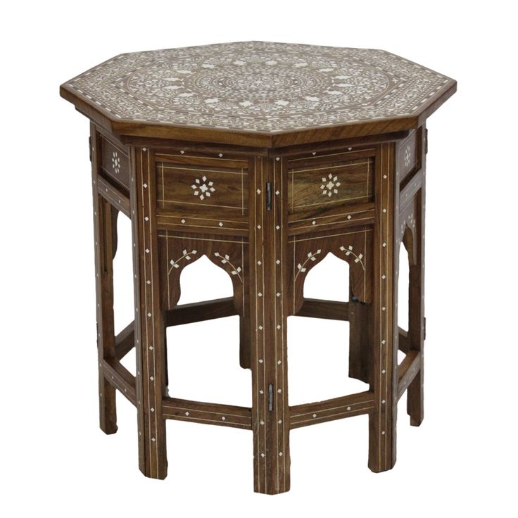 Octagonal anglo indian inlay table for Table 6 of gstr 1