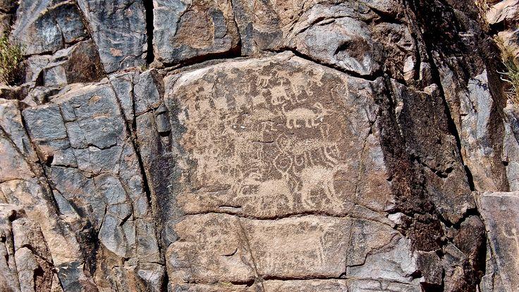 Petroglyphs in Heiroglyph Canyon