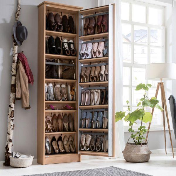 Der Schuhschrank 230 X 60 Cm In Ellmau Buche Bietet Patz Fur Bis Zu 43 Paar Schuhe Closet Design Shoe Organizer Home Room Design