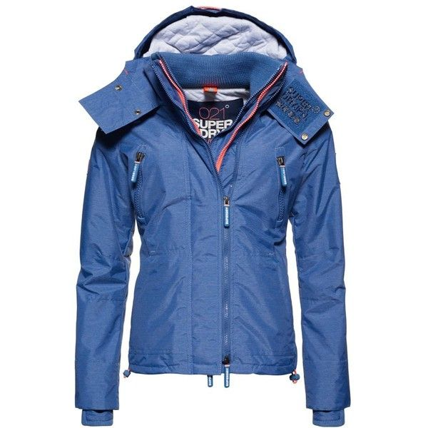 Superdry Hooded Wind Yachter Jacket (310 BRL) ❤ liked on Polyvore featuring outerwear, jackets, blue, women, hooded nylon jacket, superdry, blue jackets, superdry jackets and hooded jacket