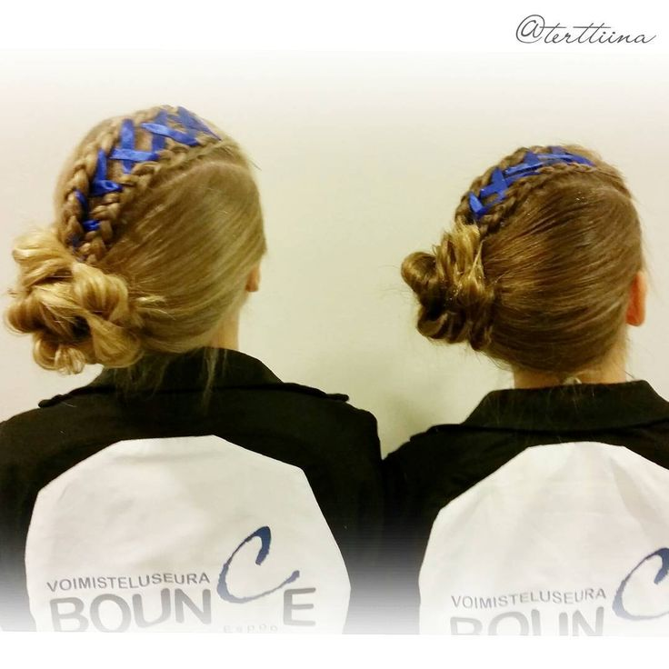 Hair styles for trampoline gymnastic competition!