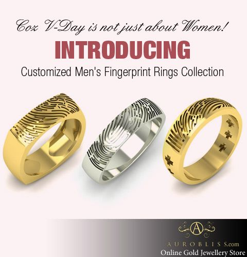 Think Finding A Gift For Men Is Difficult Here S Introducing Customized Fingerprint Rings