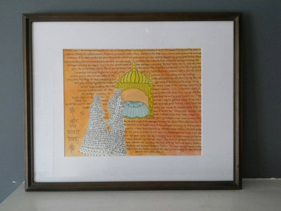 Anand karaj Sikh lavan sikh wedding-print only by SoulzCreation