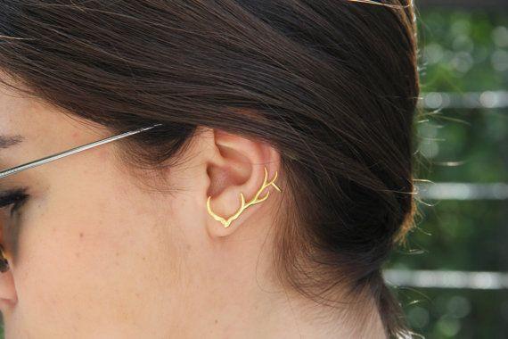 Hey, I found this really awesome Etsy listing at https://www.etsy.com/listing/233747851/antler-ear-cuff-ear-cuff-silver-ear-cuff