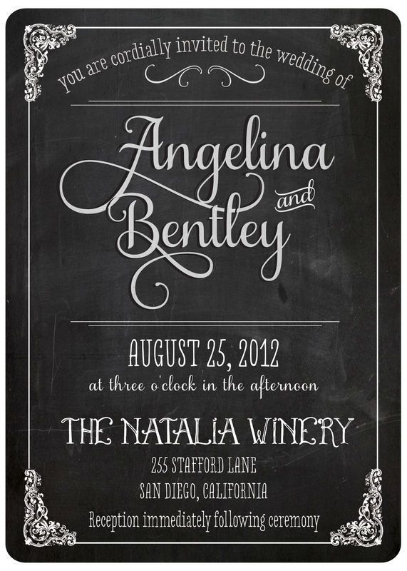 Vintage Wedding Invitation - Angelina (set 3)