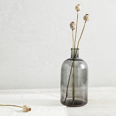 Smoked Glass Large Vase | Vases | The White Company UK
