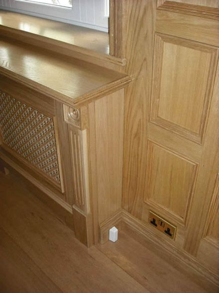 Wooden Wall Covers Over Radiators Oak Oak Veneer