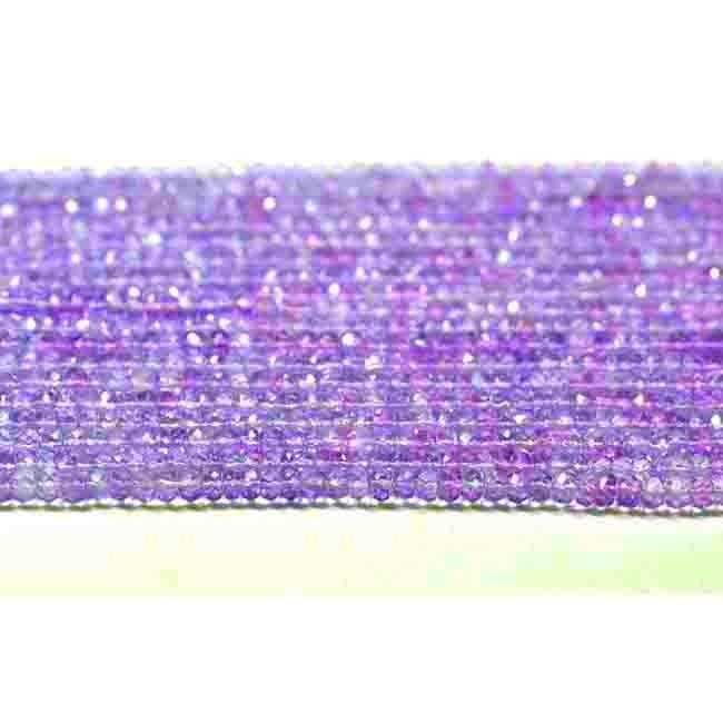 Get the best natural Pink Amethyst Gemstone beads from Brazilian Mines. Available in faceted beads. A bead measures from 5mm to 6mm. These beads are unbleached, real, untreated & beautiful which allure you.