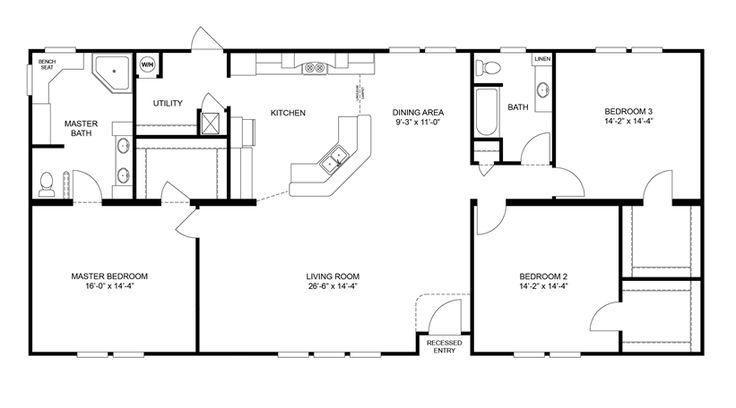 27 best manufactured homes images on pinterest for Monster mansion mobile home floor plan