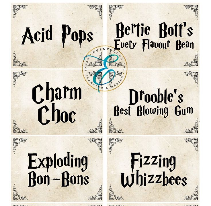harry potter candy bar  table labels for hp fans  michelle  u0026 emmanuel  on their wedding day