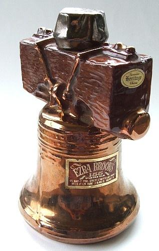 Collectible Whiskey Bottles | Ezra Brooks Liberty Bell Whiskey Decanter 1969 Heritage China | eBay