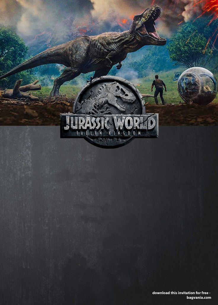 Free Printable Jurassic World Invitations with regard to ...