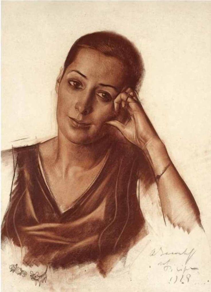 "Яковлев Александр Евгеньевич (1887-1938) ""Женский портрет"""