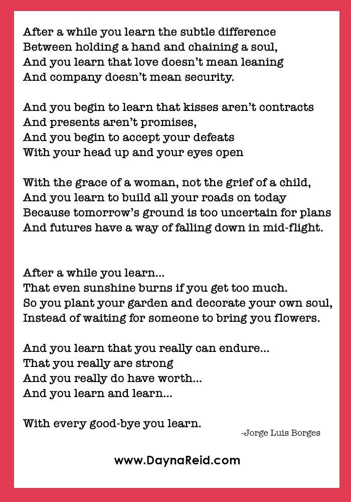 After A While Poem - Scrapbook.com