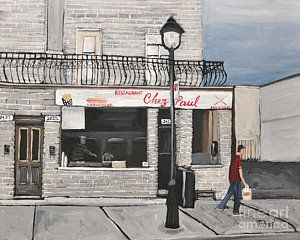 Painting - Restaurant Chez Paul Pointe St. Charles by Reb Frost