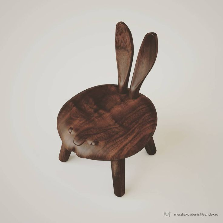 0 отметок «Нравится», 1 комментариев — мерзляков (@denismerzliakov) в Instagram: «#3d #chair #furniture #stool #art #design  #seat #idea #hare #rabbit #animals #woodcraft #wood…»