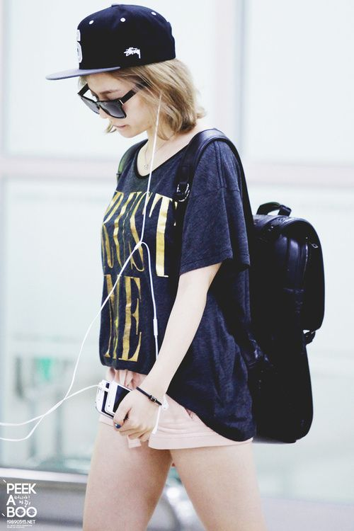 Snsd Sunny Korean Stars Airport Fashion Casual Style Pinterest Girls Generation