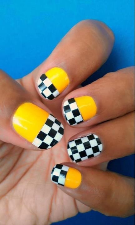 Whose pumped for NASCAR this year! - Best 25+ Checkered Nails Ideas On Pinterest Black And White Nail