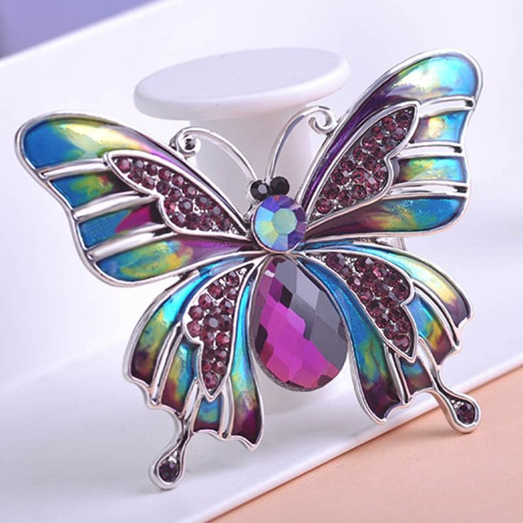 Beautiful Esmalte Butterfly Broch Only $15.99  => Save up to 60% and Free Shipping => Order Now! #Ring #Jewelry #woman #fashion