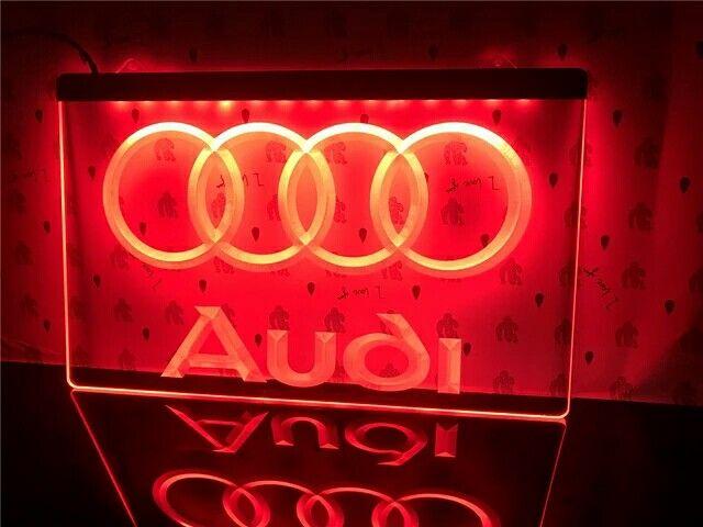 Our Audi Acrylic LED Illuminated Signs, We can make any logo