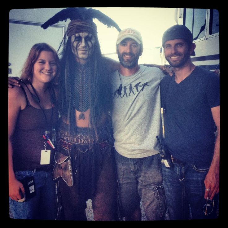 'The Lone Ranger' Features Work from Over a Dozen Full Sail Alumni (from left) Melissa Laude, Johnny Depp, Kevin Thomas Roy, Andrew Campbell