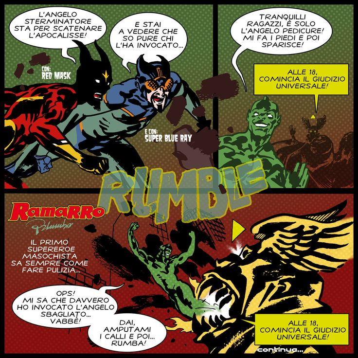 SQ n. 9: Anghellicus Primordie Ramarro back in action Supereroi Quotidiani numero 9!