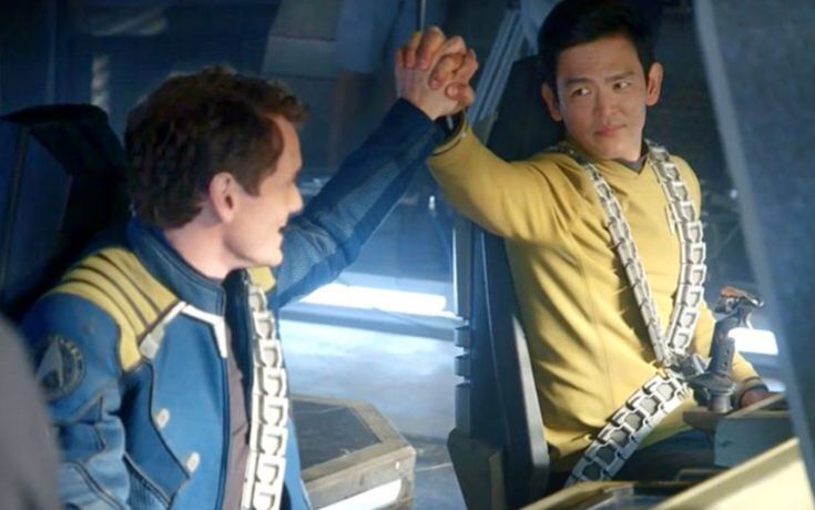 'Star Trek: Beyond' (2016) Chekov Anton Yelchin and Sulu John Cho