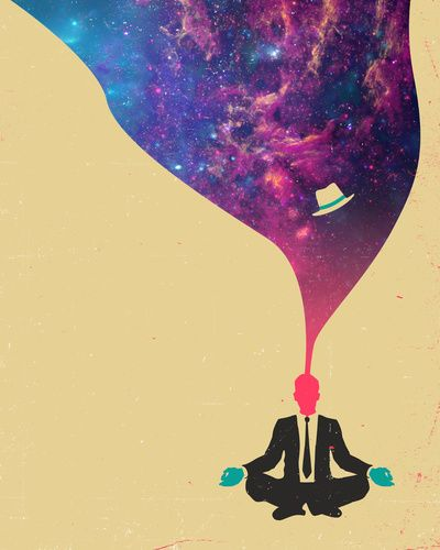 """Based on our artists, we doubt humans only use 10% of their brains. Take a closer look at Jazzberry Blue's """"Explore"""" art print, available in several sizes at Society6."""