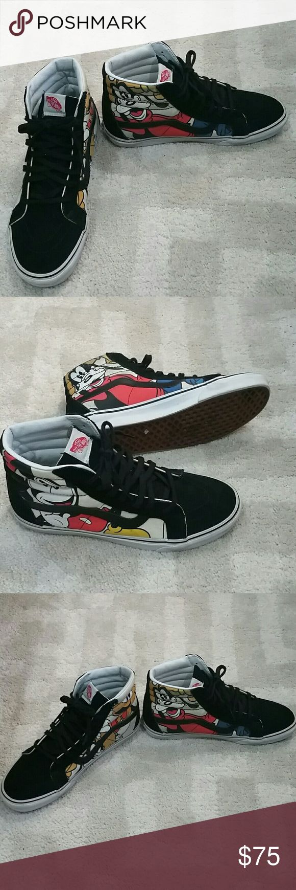 Mens Vans! Mens Disney Vans gently used in size 10..made up of canvas and suede.. Vans Shoes Sneakers
