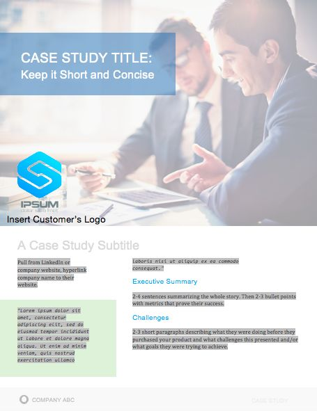 Best Case Study Templates Images On   Print Templates