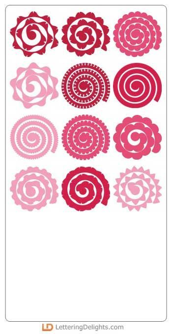 Image Result For Rolled Flower Svg Cricut Explore Ideas Rolled