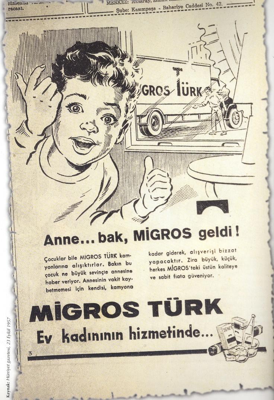 Anne... bak, Migros geldi :)