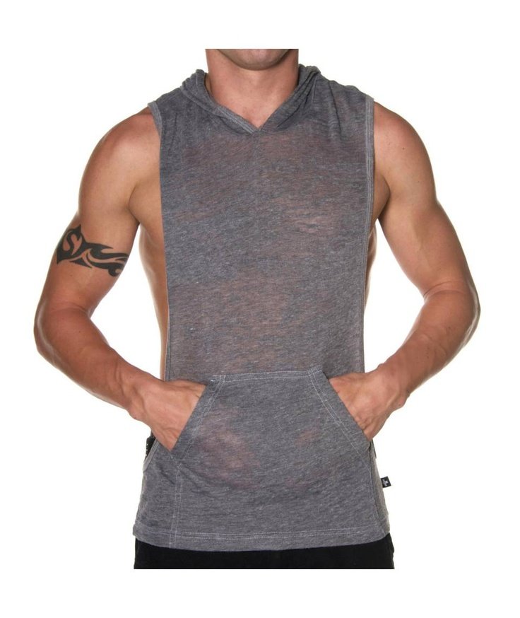 Andrew Christian Sleeveless Summer Hoodie