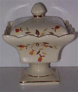 Jewel Tea Autumn Leaf | Autumn Leaf Jewel Tea Pedestal Candy Dish - NEW