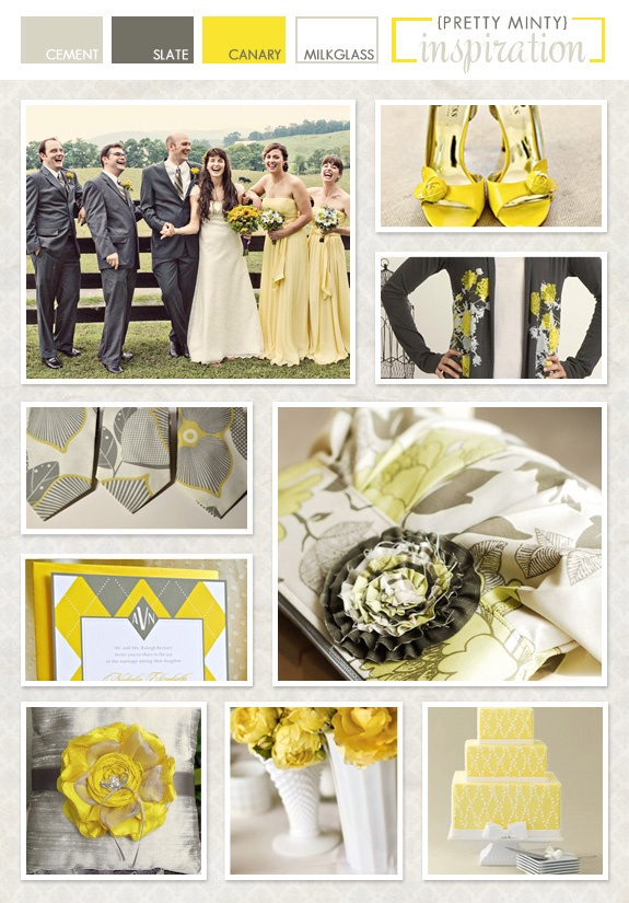 gray and yellow...I just love this color duo