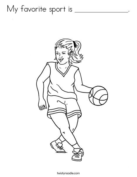my favorite sport is coloring page from sports printable. Black Bedroom Furniture Sets. Home Design Ideas