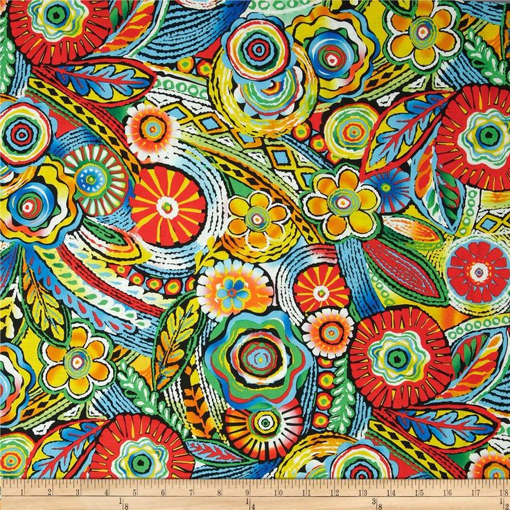Samba Moroccan Tile Bright Multi From @fabricdotcom From