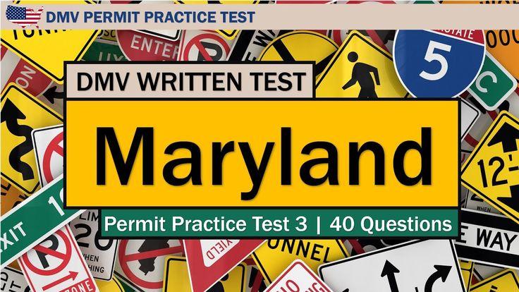 DMV Permit practice tests: Maryland written driving test 3