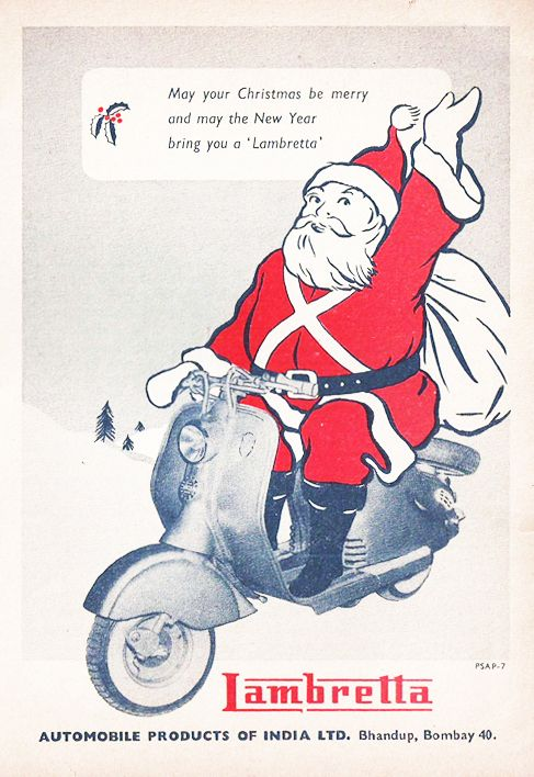 Lambretta Christmas Scooter Ad India
