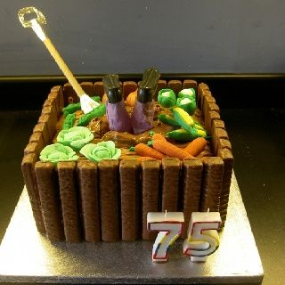 25 best Dads cake images on Pinterest Garden cakes Garden