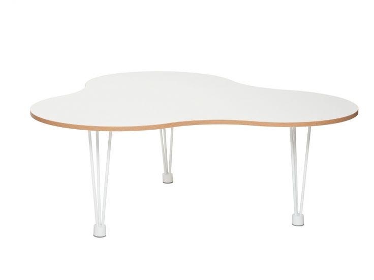 LUNE Soffbord Blomma liten Vit/Ek i gruppen Inomhus / Bord / Soffbord hos Furniturebox (100-30-80289s)