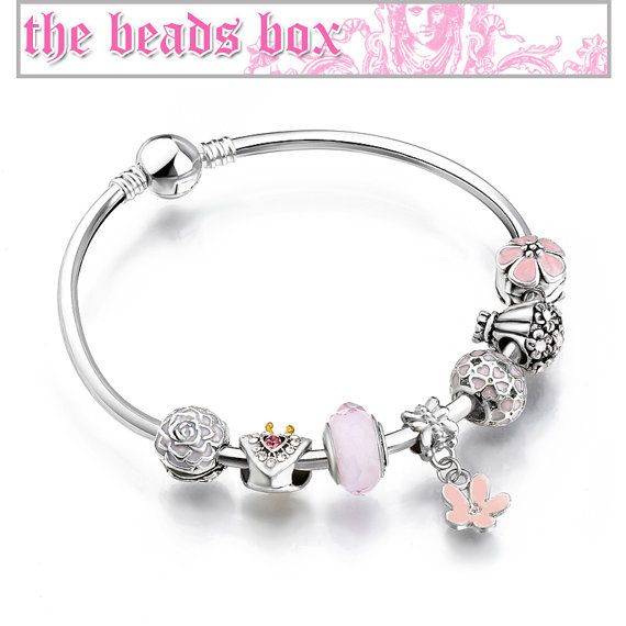 AA-68 Princess Heart Bracelet 925 Sterling Silver by TheBeadsBox