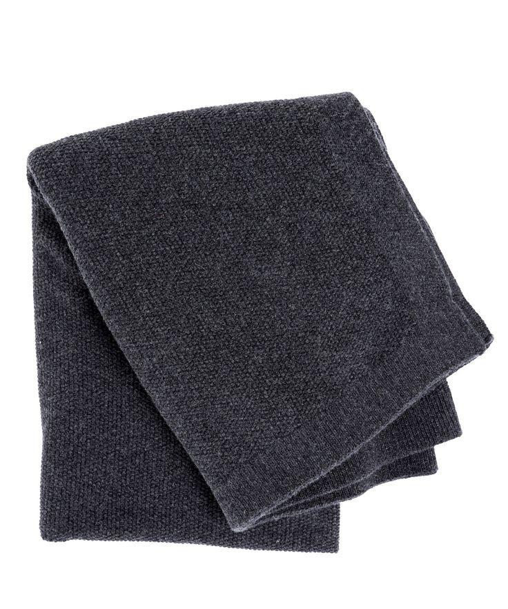 SeedStitch blanket, charcoal/black glitter
