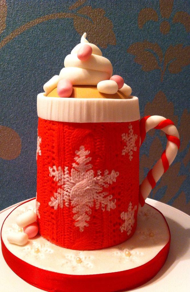 Christmas cake jumper mug