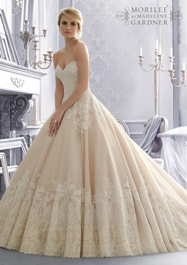 Mori Lee 2674 Strapless Lace Ball Gown Wedding Dress in 2019 ... 486cbd1ba09d